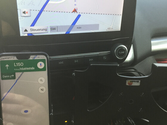 FordNavi mit Google Maps